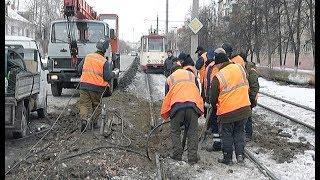 Проржавевшие рельсы в Челябинске