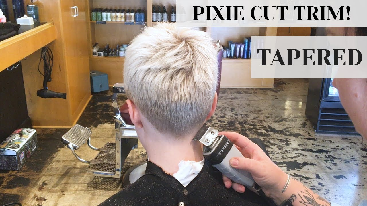 Pixie Cut Trim At Rudy S Barbershop Clippers Tapered Fade