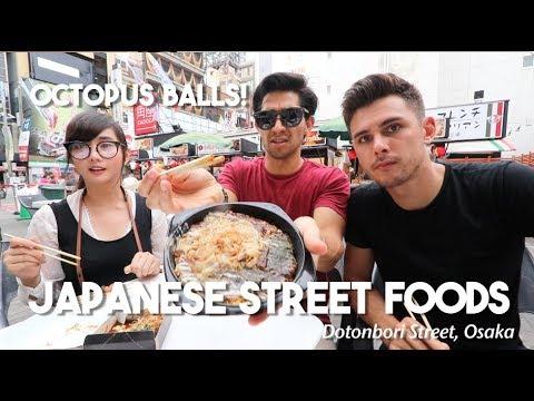 BEST JAPANESE STREET FOODS (Dotonbori Street, Osaka)