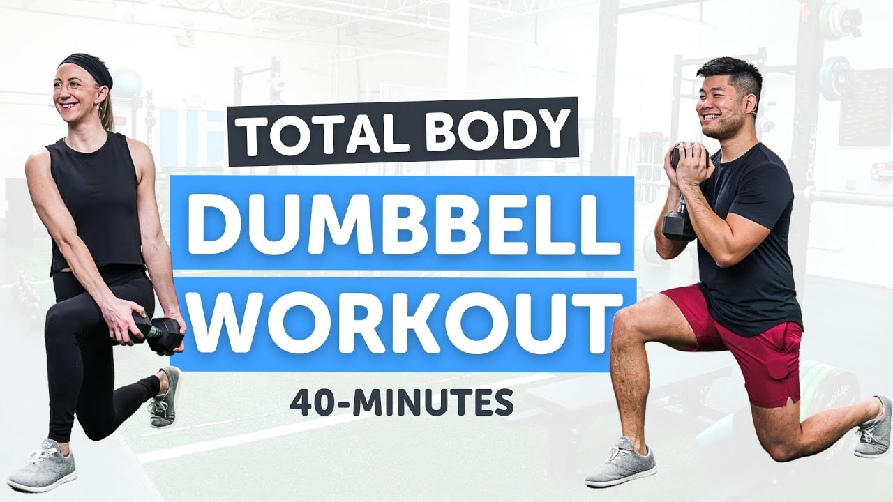 Download Total Body Dumbbell Workout   40 Minutes   Modifications Provided!