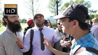 P1 - Who needs Arabic?! Mansur vs Visitor l Speakers Corner l Hyde Park