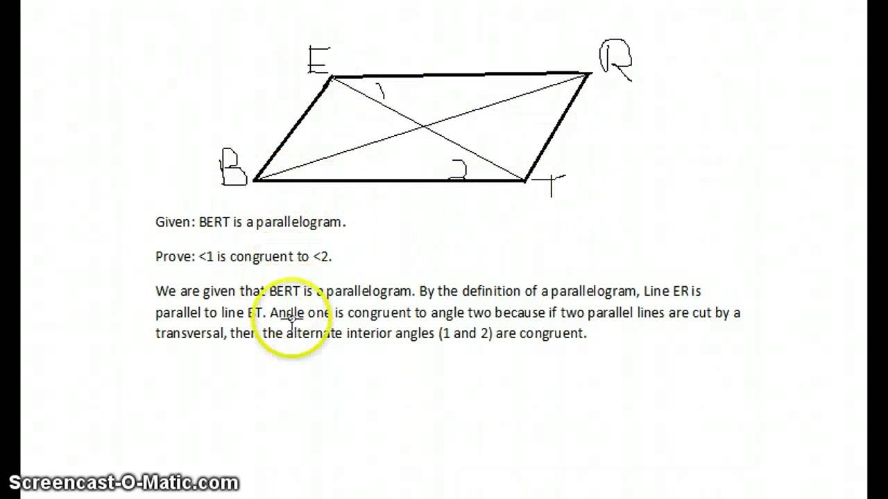Paragraph Proof - YouTube