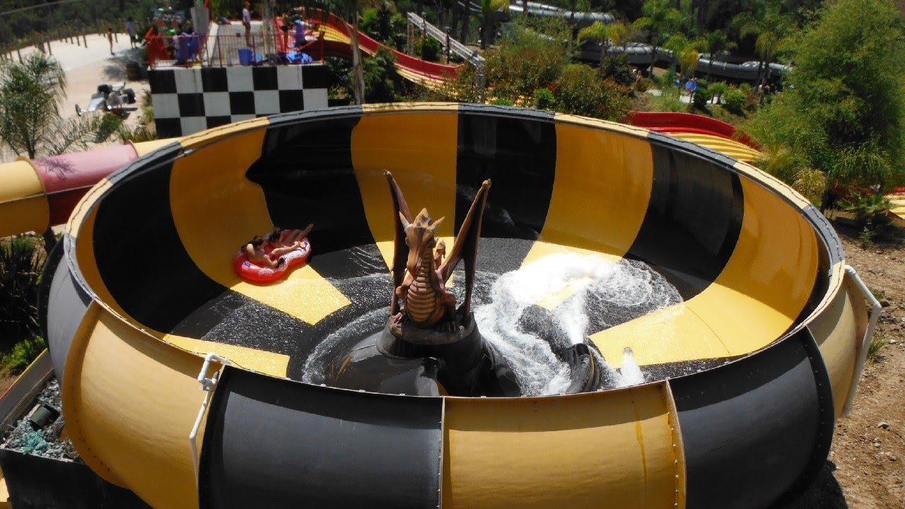 HD POV - Dragon\'s Den Water Slide - Raging Waters - Water Park - YouTube