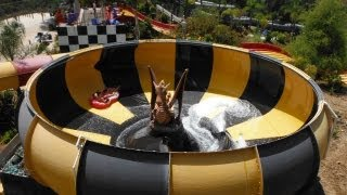 HD POV - Dragon's Den Water Slide - Raging Waters - Water Park