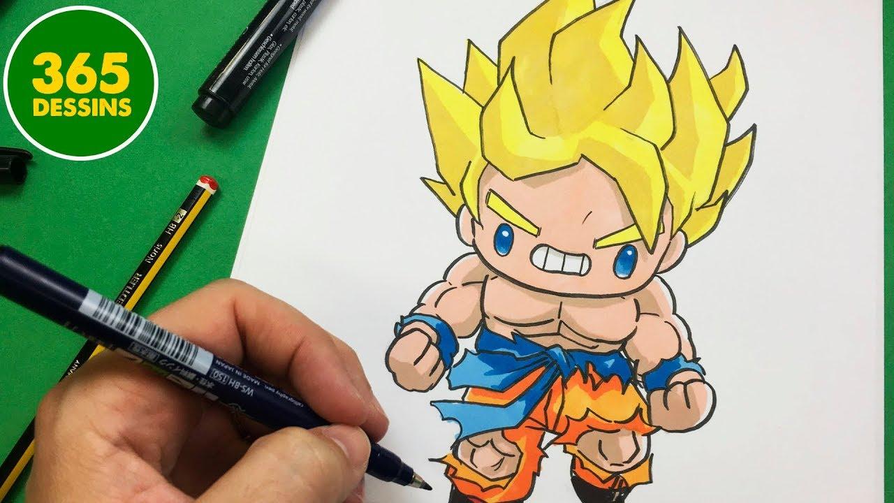Comment Dessiner Goku Kawaii Etape Par Etape Dessins Kawaii Facile Youtube