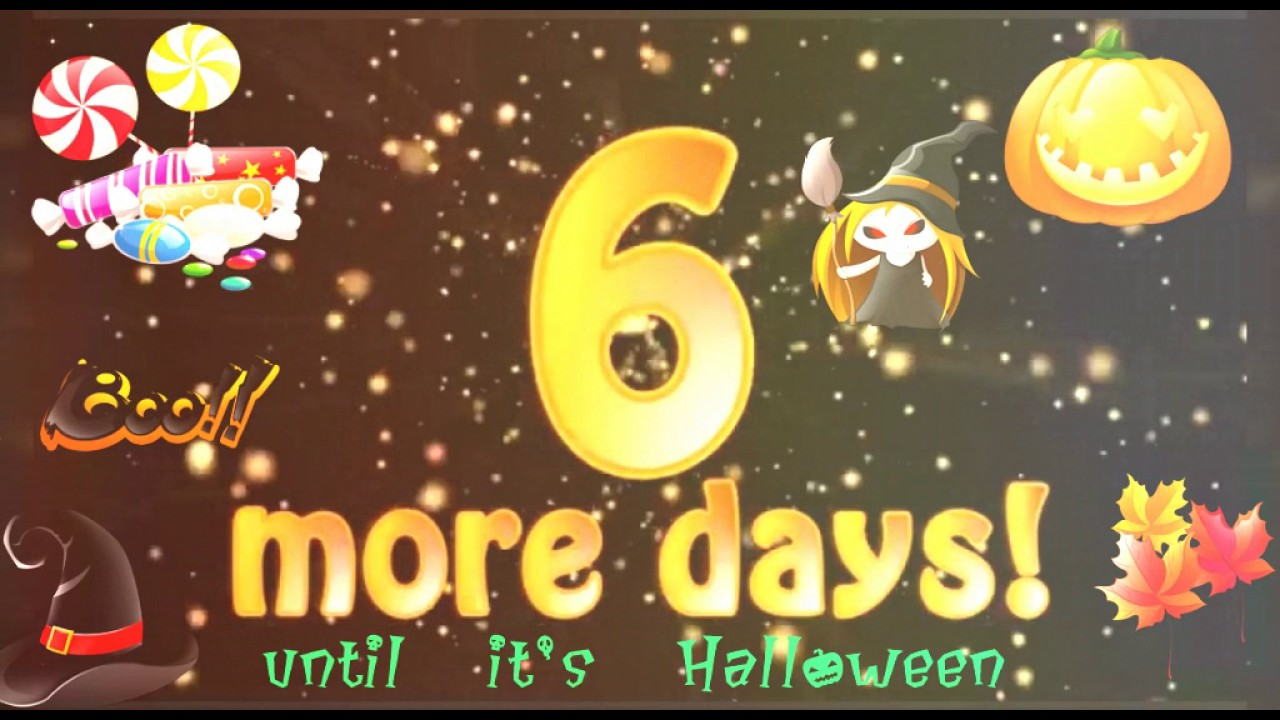 6 more days until Halloween - YouTube