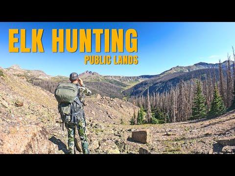 HIGHEST ALTITUDE I'VE EVER HIKED! Rocky Mountain Elk Hunting Public Land Pt. 2