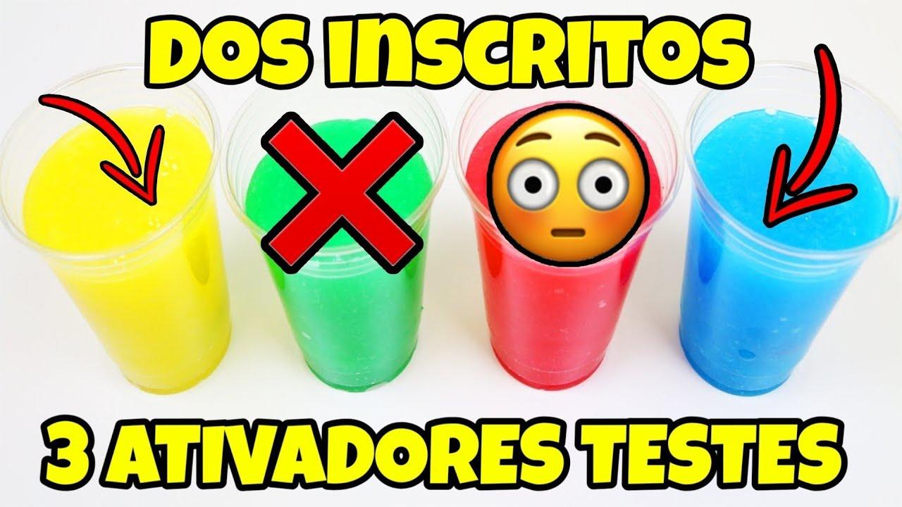 3 MANEIRAS DE FAZER SLIME SEM ATIVADOR | RECEITA DOS INSCRITOS | NOVO ROSA.
