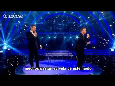 Robbie Williams & Gary Barlow - Shame (traducido) live