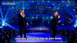Download Robbie Williams & Gary Barlow - Shame (traducido) live MP3 song and Music Video