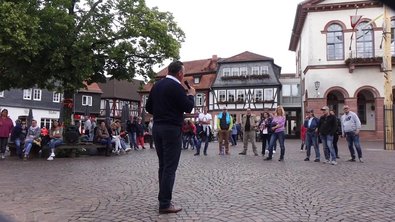 Mahnwache gegen Existenzvernichtung 07.06.2020 Bürgerbewegung Seligenstadt