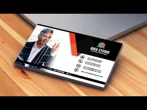Cara Membuat Kartu Nama Keren Di Photoshop | Business Cards Design