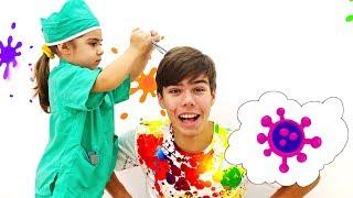 Мия Настя и Артем собираются показать как важно мыть руки сборник для детей
