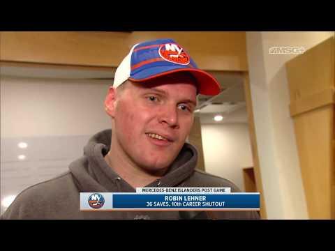 Robin Lehner Discusses 36-Save Shutout vs. Leafs | New York Islanders Post Game