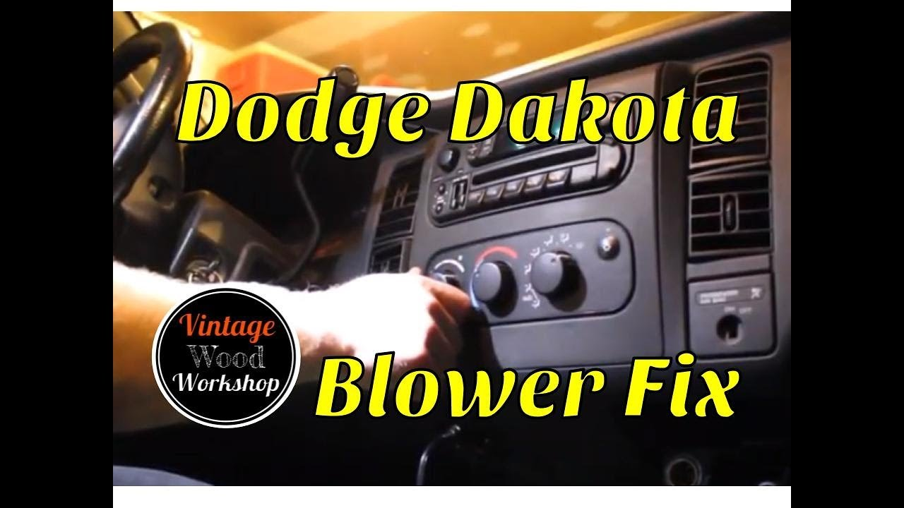hight resolution of replacing the blower motor burned out harness and resistor 2001 dodge dakota diy how to