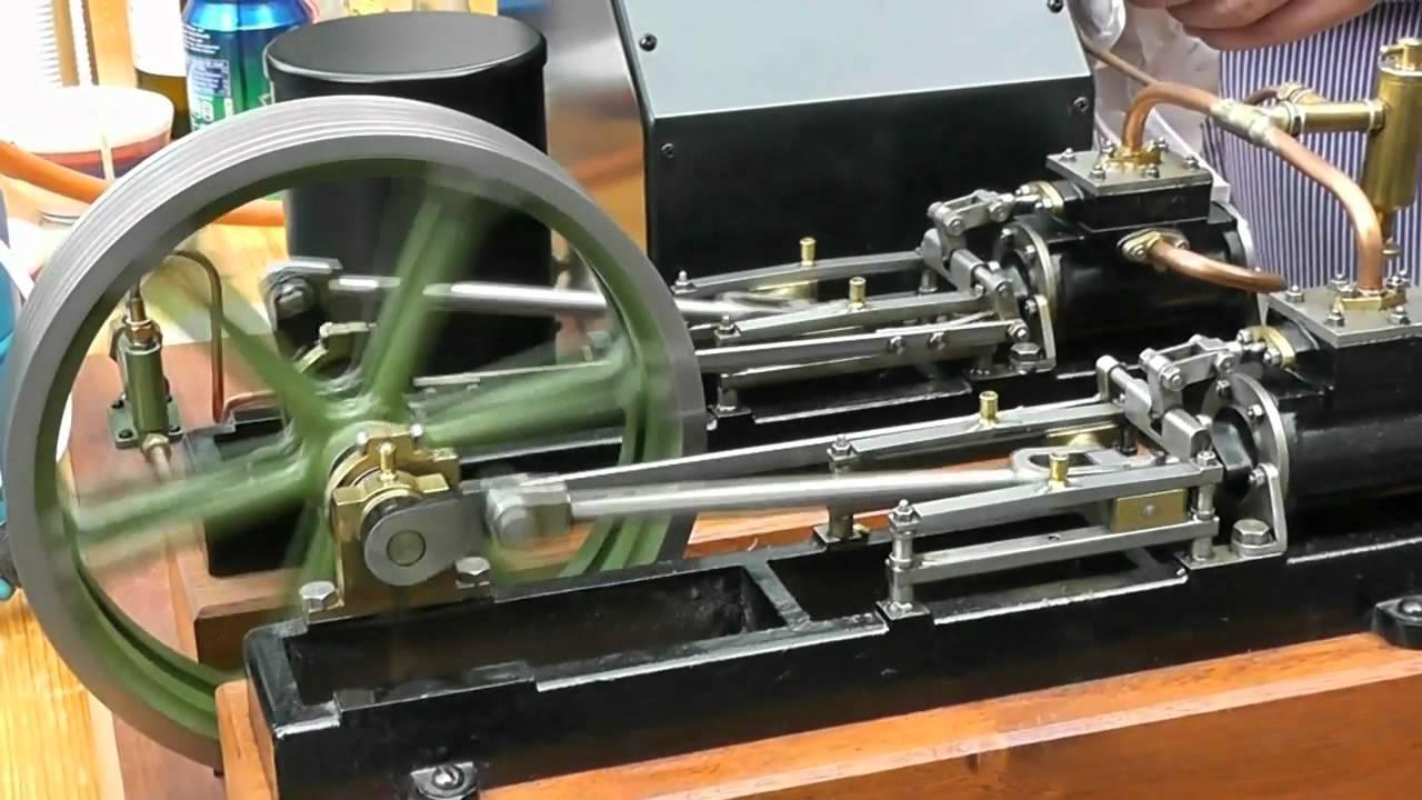 Stuart Twin Victoria live steam engine at ATAF Club Tessin Switzerland - YouTube