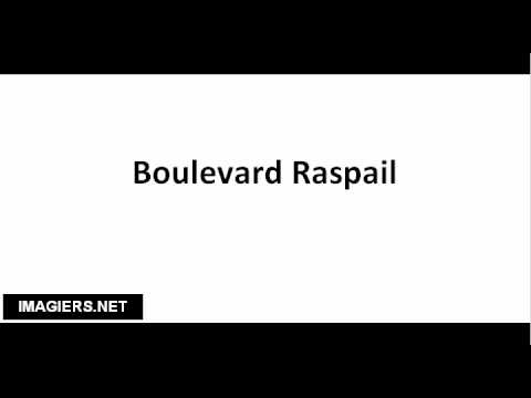 How to pronounce Boulevard Raspail