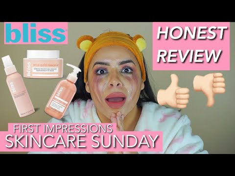 HOT NEW SKINCARE BLISS Rose Gold Rescue *HONEST REVIEW* | First Impressions | Enshlie Melendez