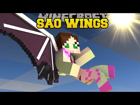 Thumbnail: Minecraft: SWORD ART ONLINE WINGS! (THE ULTIMATE FLYING RACE!) Mod Showcase
