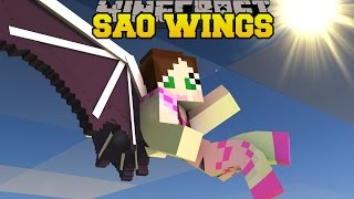 Minecraft: SWORD ART ONLINE WINGS! (THE ULTIMATE FLYING RACE!) Mod Showcase