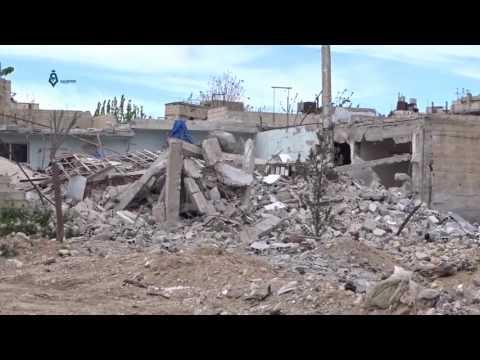 Damascus: Destruction In Qaboon Neighborhood 10-4-2017