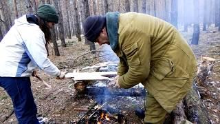 Дикая кухня - готовим рыбу на костре