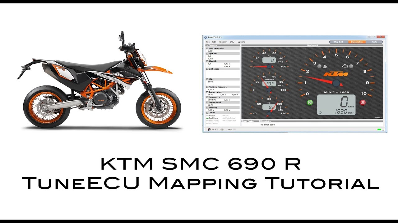 KTM SMC 690 R Mapping TuneECU Tutorial [Flashing ECU]