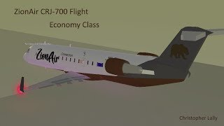ROBLOX | ZionAir CRJ-700 Flight (Economy Class)