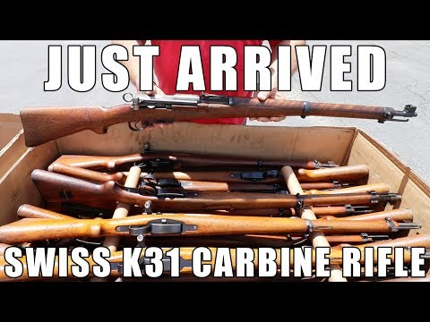 Just In! Swiss K31 Carbine Straight Pull Rifles