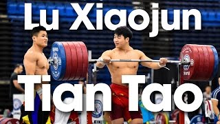 Lu Xiaojun & Tian Tao 295kg Front Rack Holds 2015 World Weightlifting Championships