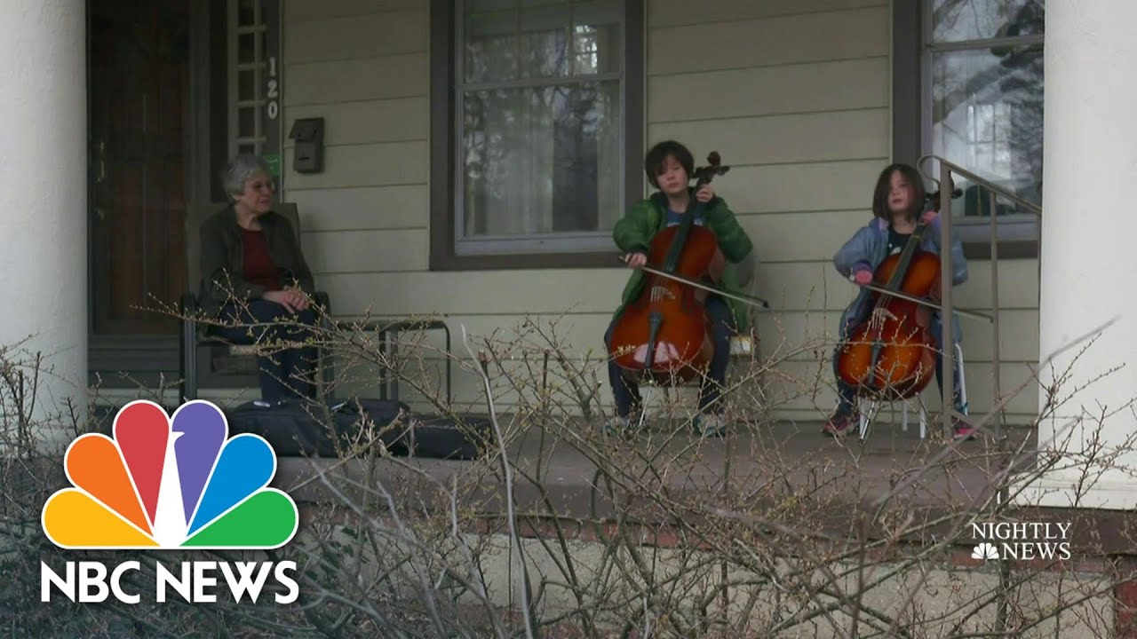 Ohio Children Remarkable Act Of Kindness For Self-Isolated Elderly Neighbor | NBC Nightly News
