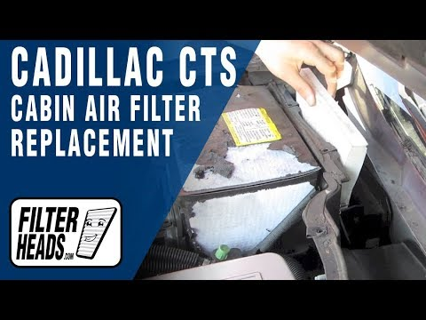 How To Replace Cabin Air Filter Cadillac Cts Youtube