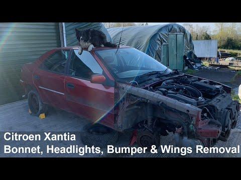 Citroen Xantia Teardown: Bonnet, Headlights, Bumper And Wings