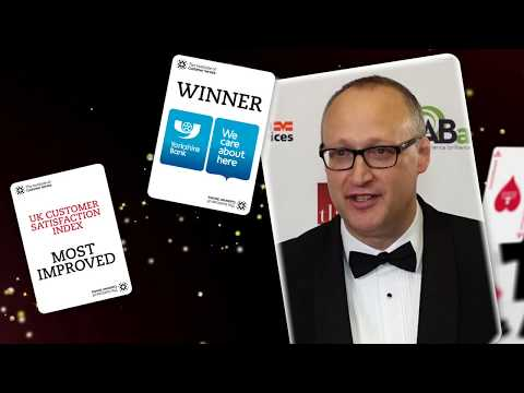 Yorkshire Bank recipient of the UKCSI Award Most Improved