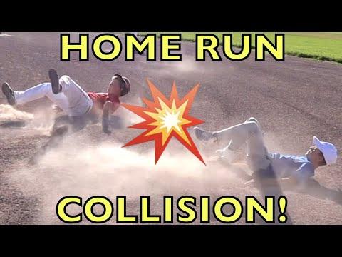 ⚾️1st-baseman-trips-batter-on-home-run!!