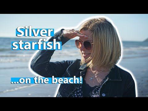 Silver Starfish Pendant On The Beach