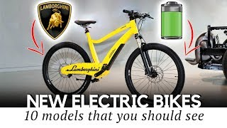 10 New Electric Bicycles that Use Latest Smart Inventions of the Industry