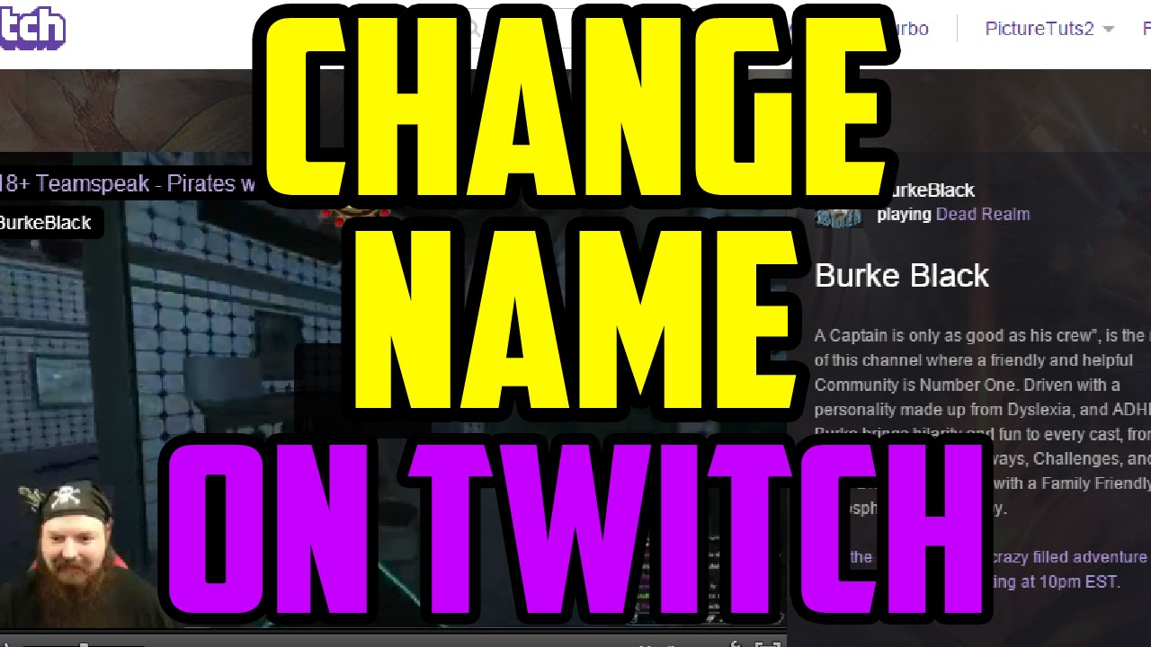 Twitch - How To Change Your Name APPEARANCE On Twitch 2016 - Twitch Display  Name Change Guide