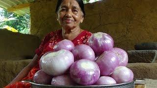Village Food / Stir Fried Onions prepared in my village by my Mom