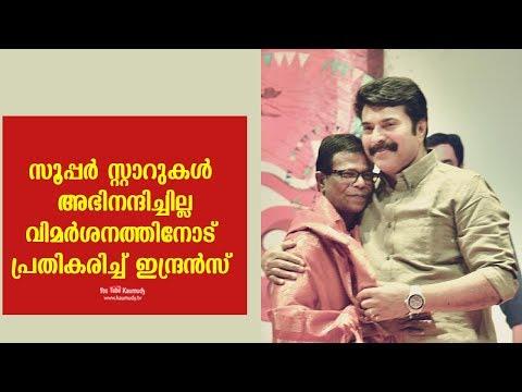 Did superstars congratulate award-winning actor Indrans?