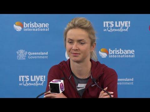 Elina Svitolina pre tournament press conference   Brisbane International 2019