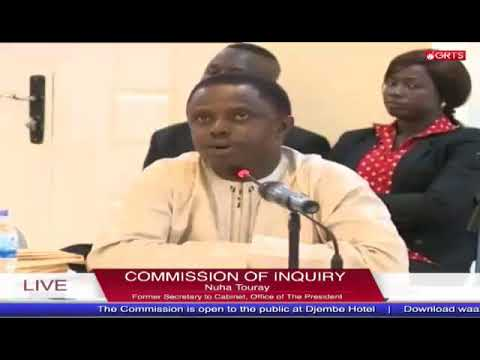 Former Secretary At The Office Of The President Nuha Touray Testifies At The Commission Of Enquiry