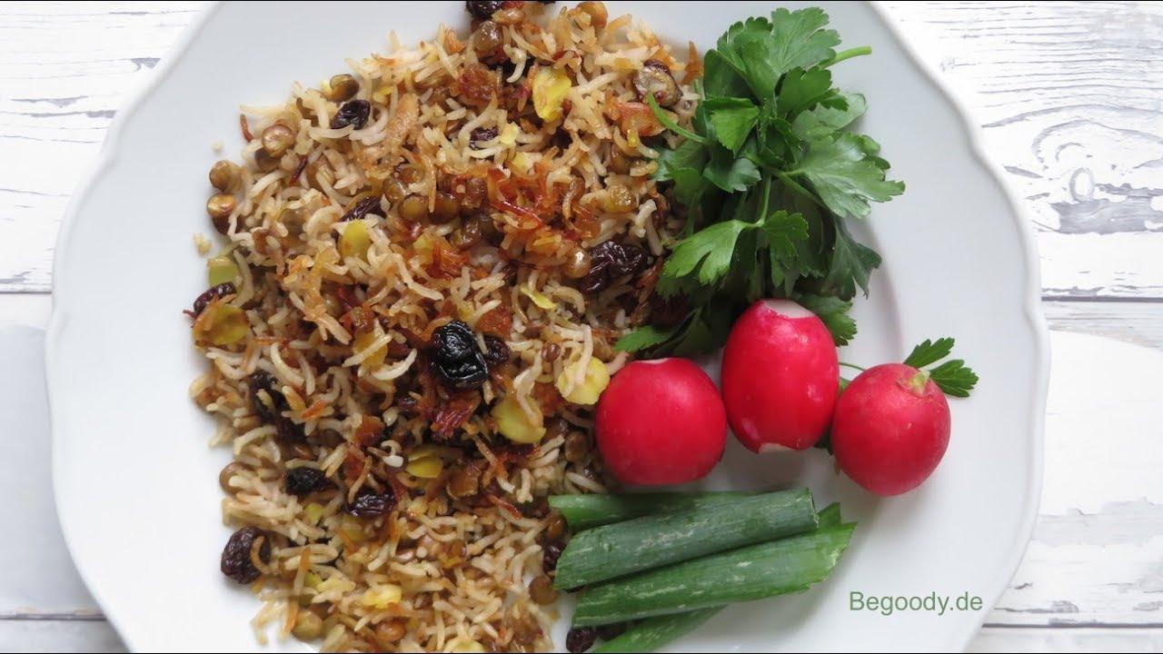 Adas Polo Rezept Vegan Persische Küche - Abendessen schnell und ...