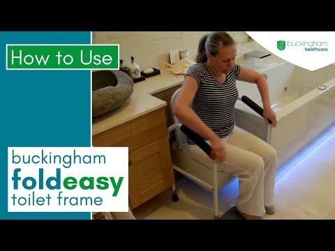Portable Folding Toilet Safety Frame Buckingham Foldeasy