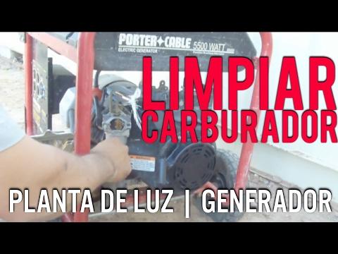 Como Limpiar El Carburador De Un Porter Cable Generador | Planta De Luz | Ar2ro D.