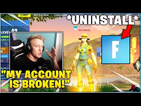 TFUE Was FORCED To STOP Using his ACCOUNT & Uninstall Fortnite...