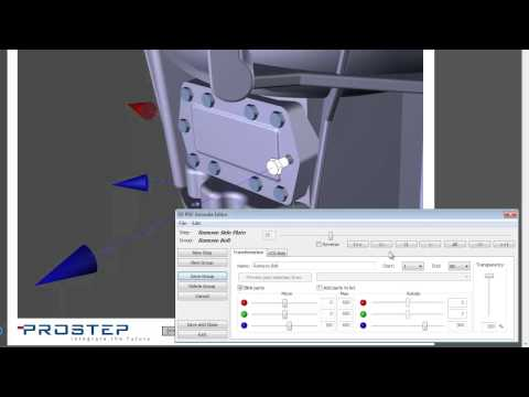 3D PDF Animation: Rotating 3D Parts within a PDF Document
