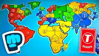 World War PEWDIEPIE vs T-SERIES! - Risk Factions