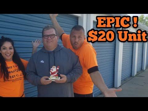 EPIC $20 Unit I Bought Abandoned Storage Unit Locker / Opening Mystery Boxes Storage Wars Auction