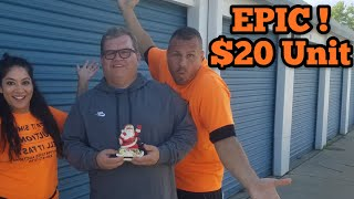 EPIC $20 Unit I Bought Abandoned Storage Unit Locker / Opening Mystery Boxes Storage Wars Auction
